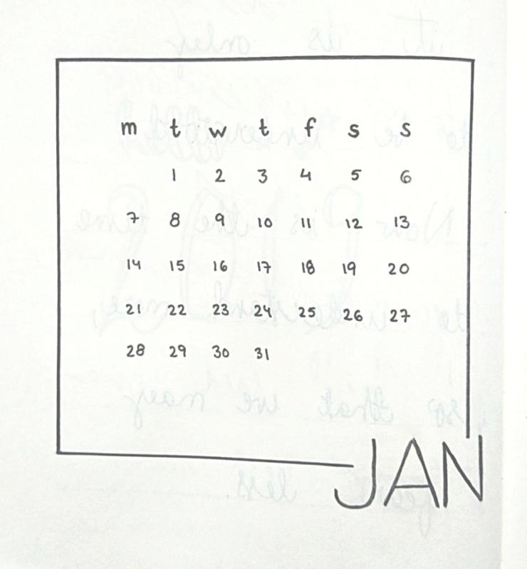 Bullet journal January template