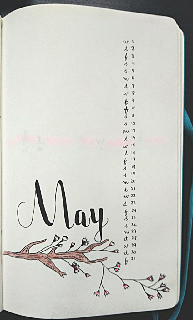 Monthly May bullet journal template